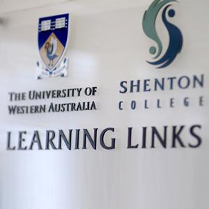 UWA logo and Shenton logo