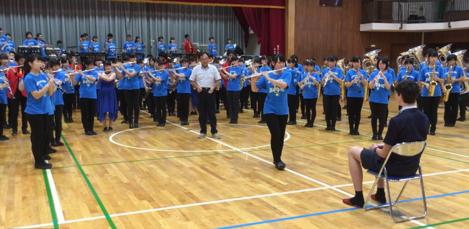 Shenton's Japanese sister school Brass Band performs for our students