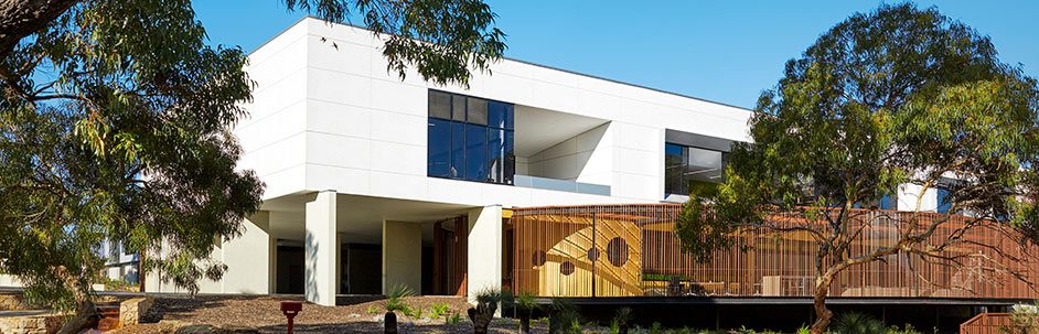 Shenton College building from the outside