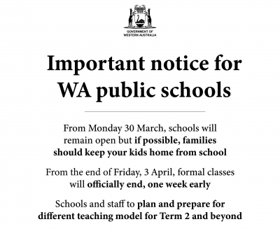 Important Notice from the Premier