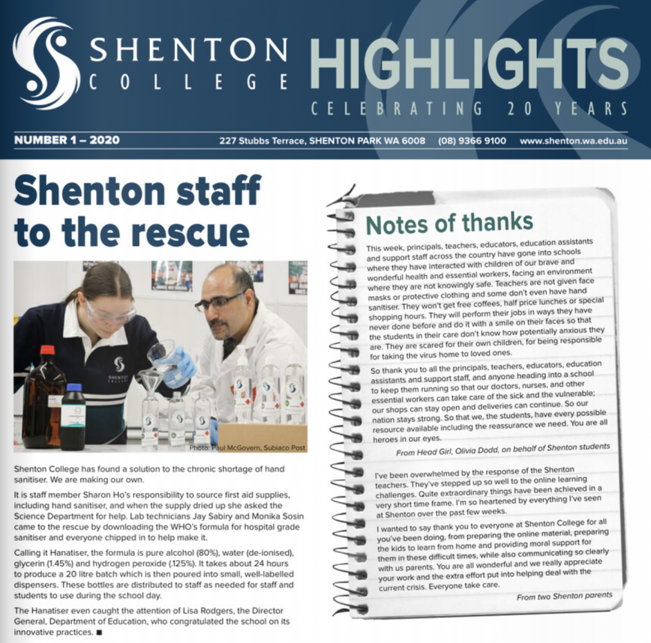 Shenton Highlights – Edition 1 2020 Released